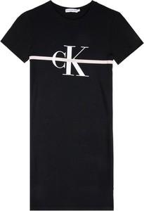 Sukienka dziewczęca Calvin Klein z jeansu