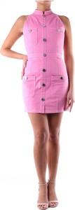 Różowa sukienka Balmain mini