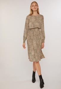 Sukienka FEMESTAGE Eva Minge midi w stylu casual z długim rękawem