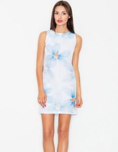 Niebieska sukienka Figl ołówkowa
