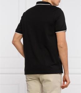 Czarna koszulka polo Calvin Klein w stylu casual z krótkim rękawem