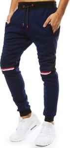 Niebieskie spodnie sportowe Dstreet z dresówki