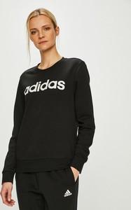 Czarna bluza Adidas Performance z bawełny krótka