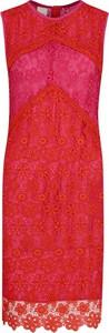 Sukienka Pinko z okrągłym dekoltem bez rękawów