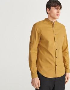 Koszula Reserved z długim rękawem w stylu casual ze stójką