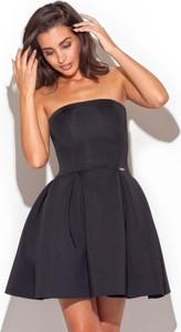 Czarna sukienka LENITIF bez rękawów mini
