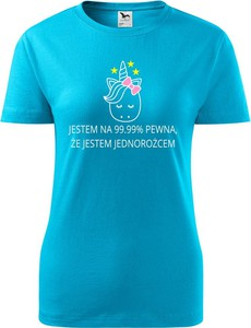 Niebieski t-shirt TopKoszulki.pl w sportowym stylu