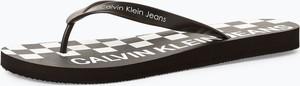 Czarne buty letnie męskie Calvin Klein w sportowym stylu