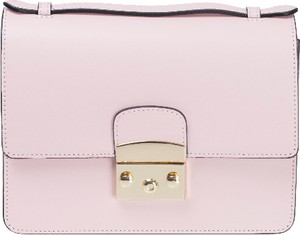 Różowa torebka Vera Pelle średnia