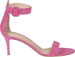 Różowe sandały Gianvito Rossi
