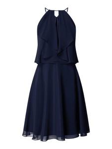 Granatowa sukienka Swing mini bez rękawów