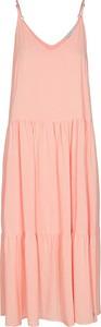 Różowa sukienka Numph z dekoltem w kształcie litery v w stylu casual