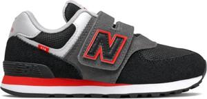Czarne buty sportowe dziecięce New Balance z zamszu dla chłopców