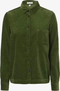 Zielona koszula Marie Lund z długim rękawem ze sztruksu