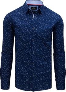 Niebieska koszula Dstreet z długim rękawem