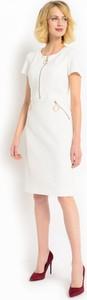 Biała sukienka z ozdobnymi suwakami potis & verso dance