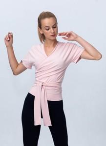 Bluzka Reezy z krótkim rękawem z dekoltem w kształcie litery v