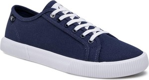 Calvin Klein Jeans Tenisówki Vulcanized Sneaker Laceup Co YM0YM00068 Granatowy