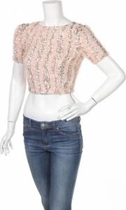 Różowa bluzka Lace & Beads z okrągłym dekoltem