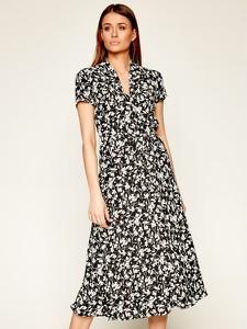 Sukienka Ralph Lauren w stylu casual z dekoltem w kształcie litery v z krótkim rękawem