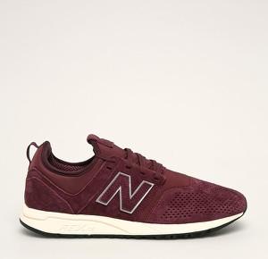 Bordowe buty sportowe New Balance sznurowane