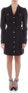 Czarna sukienka Imperial mini z długim rękawem
