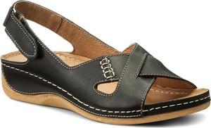 Czarne sandały pollonus w stylu casual