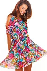 Sukienka Awama mini z szyfonu