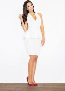 Sukienka Figl midi bez rękawów z dekoltem w kształcie litery v