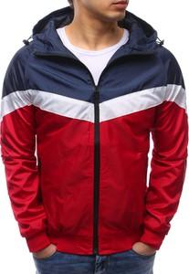 Dstreet kurtka męska z kapturem czerwona (tx2167)