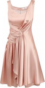 Różowa sukienka POTIS & VERSO bez rękawów z jedwabiu