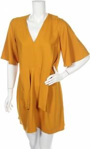 Żółta sukienka Miss Selens mini w stylu casual