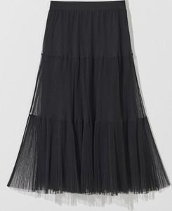 Czarna spódnica Mohito z dzianiny midi