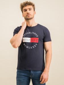 Granatowy t-shirt Tommy Hilfiger