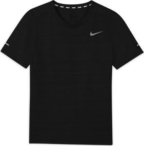 Czarna koszulka dziecięca Nike dla chłopców z tkaniny