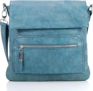 Niebieska torebka Bag Street w stylu casual na ramię duża