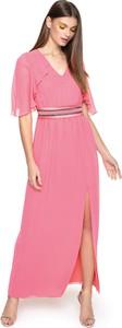Sukienka L'AF maxi z dekoltem w kształcie litery v