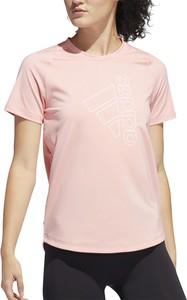 T-shirt Adidas w sportowym stylu z okrągłym dekoltem