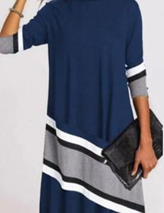 Niebieska sukienka Kendallme w stylu casual asymetryczna