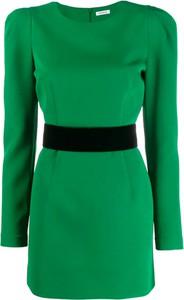Zielona sukienka P.A.R.O.S.H. z długim rękawem
