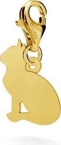 GIORRE SREBRNY CHARMS KOT GRAWER 925 : Kolor pokrycia srebra - Pokrycie Żółtym 24K Złotem