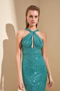 Sukienka Trendyol dopasowana bez rękawów mini