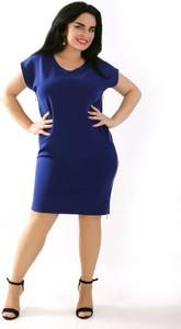 Sukienka Oscar Fashion midi dla puszystych