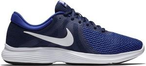 Niebieskie buty sportowe Nike z tkaniny sznurowane