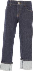 Granatowe jeansy dziecięce Gucci dla chłopców z jeansu