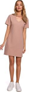 Sukienka MOE z bawełny mini w stylu casual