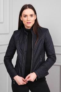 Czarna kurtka modoline w stylu casual