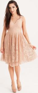 Sukienka Butik Ecru rozkloszowana
