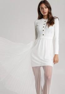 Sukienka Renee midi z okrągłym dekoltem