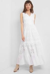 Sukienka ORSAY z dekoltem w kształcie litery v maxi z tkaniny